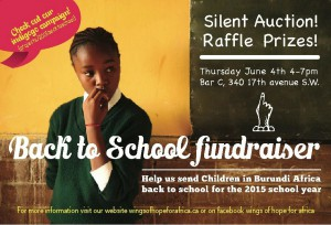 Back to school fundraiser