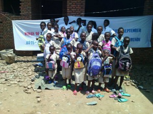 """Wings of Hope for Africa """"Back to School"""" program, 2015 - supporting education in Buterere, Burundi"""