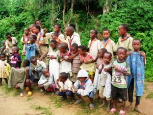Several children standing together