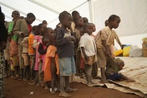 Several children lined up