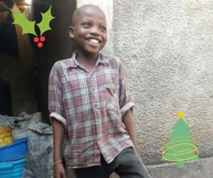 A boy smiling
