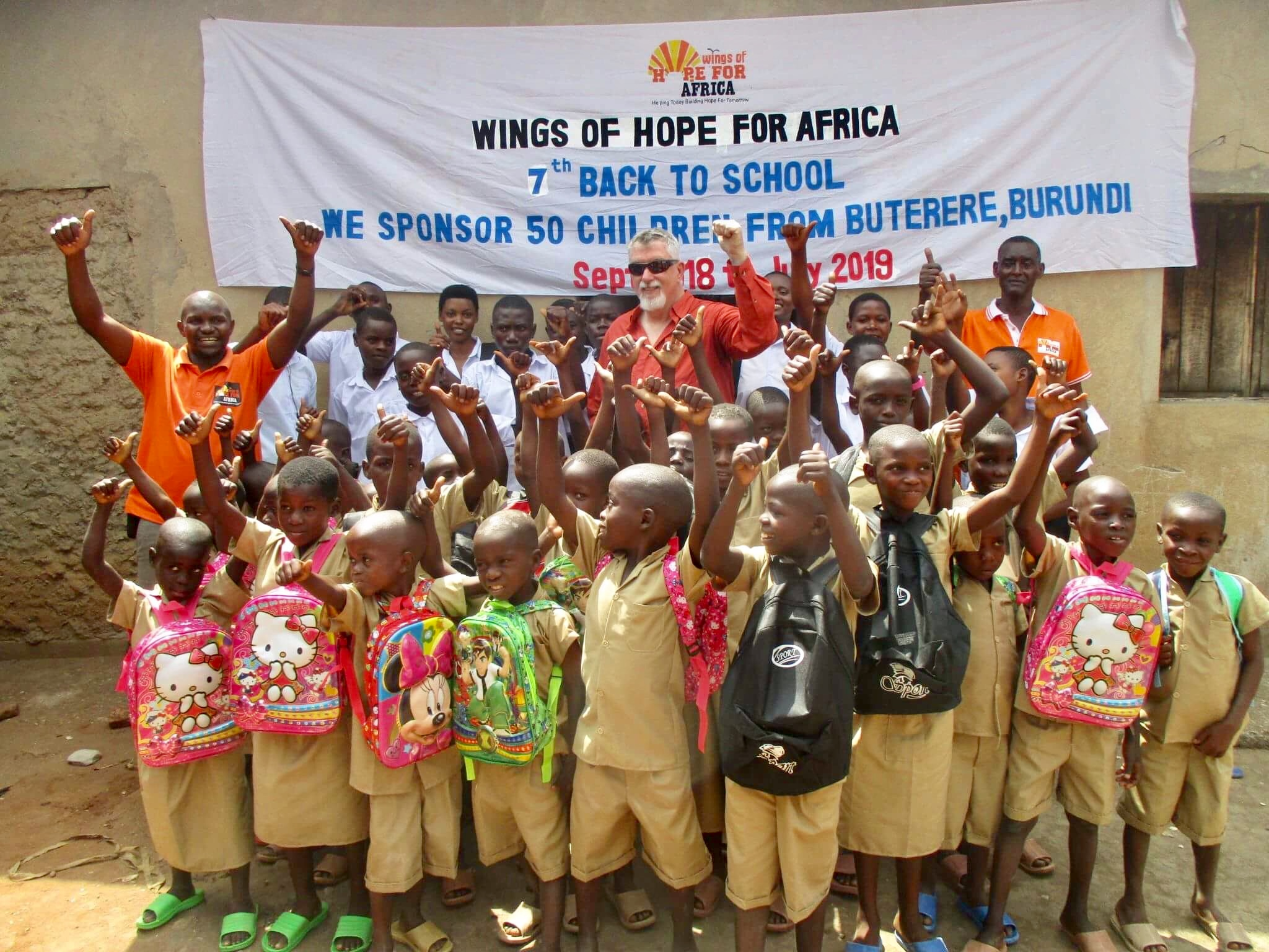 Our annual Back to School program helps children with access to education.  Your can help end the education crisis in  Africa - donate to our charity's Back to School program.